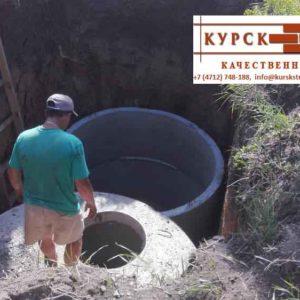 Железобетонные кольца колодца, доставка, монтаж в Курске (7)